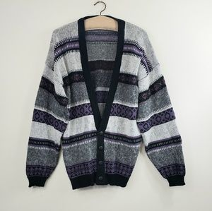 Vintage Stripe oversized grandpa cardigan/sweater
